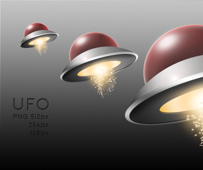UFO single icon by Redmile