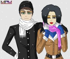 Chris and Kitana - It's Snowing by MarkiPewdieMash