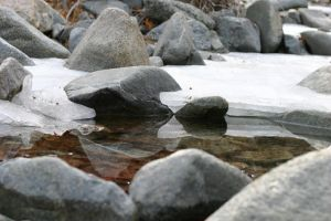 Ice on the Creek by James-T-Anthony
