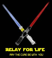 lightsaber relay for life  by Blkbltprincess