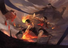 Ace and Luffy by SprintinVideoGamer