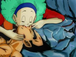 Vegetto: Kiss of Life (F. Aid) DBZ Bulma Vegeta by vegetto-vegito