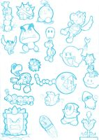 Mario Enemies - doodles by MKDrawings