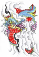 Dragon flash by vikingtattoo