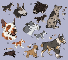 Cavern Hounds Sheet Designs (closed) by Pred-Adopts