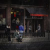 Outside the Flatop Grill by pubculture