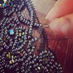 Work In Progress - Lace Bead Embroidery by xxxStarlaxxx