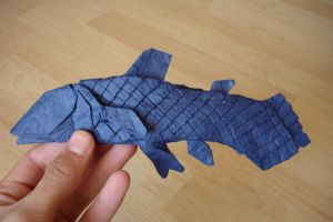 Coelacanth by origami-artist-galen