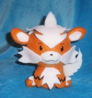 Arcanine Plushie Commission by StitchyGirl