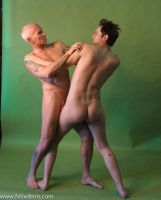 Nude Fighting Men by TheMaleNudeStock