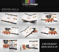 Half Fold Menu Mock-up by idesignstudio