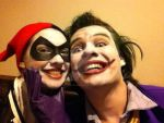 Harley Quinn and the Joker - Halloween Makeup by CurlythePirate