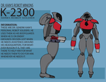 K-2300 Series Robot Soldier by KidoKoala