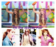 I'm the winner PSD by makemefeelinlove