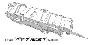 UNSC Ship - Pillar of Autumn by Obhan