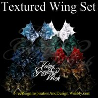 Textured Wing Set by VelmaGiggleWink