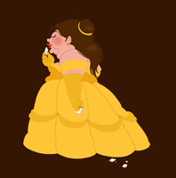 hungry princess - belle by kaffepanna
