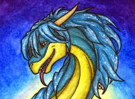 ACEO/ATC: Look at My Great Hair by Samantha-dragon