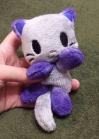 Silver and Purple Panda Kitty Beanie by TheHarley