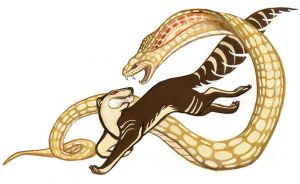 Rikki-Tikki-Tavi: Snake Fight by MonicaMcClain