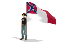 Alex and his flag by Beatles-Fan