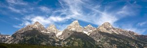 Grand Tetons Panoramic HDR by jon-rista