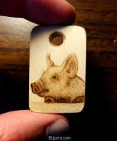 Mini pig - woodburning by brandojones