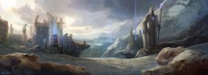 League of Legends - Mountains in Valoran by EwaLabak