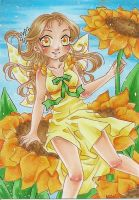 :AT: ACEO 15: Sunflower by NeMi09