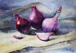 Red onion by vasoiko
