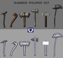 Weapons Pack 2 - Hammers by BlueSerenity