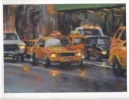 Taxi Cabs in Manhattan by Wulff-Arts