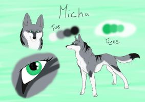 Micha character design by Beautylove17