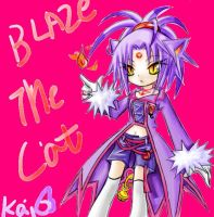 Blaze The Cat by KaiJel