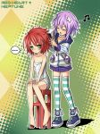 Red Heart and Neptune by KairisTwins