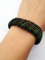 Loki Dragonscale Weave Chainmail Bracelet by FaerieForgeDesign