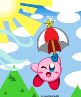 :Kirby: Parasol - Gildin' in the Sky! by SuperMarioFan888