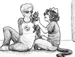 Homestuck: Dave and some cats by NancyStageRat