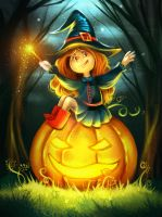 little hallowen witch by DenaHelmi