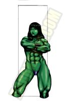 SHE-HULK POWERSTANCE by Dwid