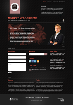 Professional Website layout by lougie24