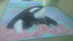 Chalk Orca by swagger23
