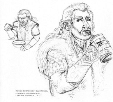 Thorin Rough Sketches 2017 by cfgriffith
