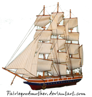 Pirate ship stock 1 by FairieGoodMother