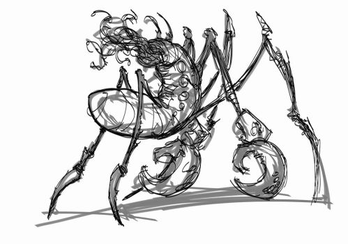 Cyberinsectsketch02082013 by crossbonestyle