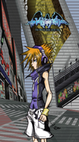 Neku - Gift By Enkuchan and colored by me by ReelDeviant