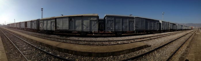 Panoramic train ( Turhal station ) by MuzafferSenel
