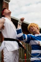 Ryu vs. Cody 2 - Amecon 2012 by BBWF-Tyrant