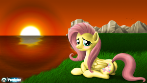 Sunset with Fluttershy by TsaritsaLuna
