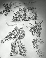 new ultimate optimus by Hopeyouguessedmyname